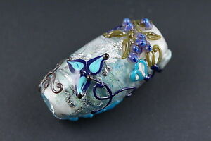 Leah-Fairbanks-Blue-Tapestry-Lampworked-Glass-Bead