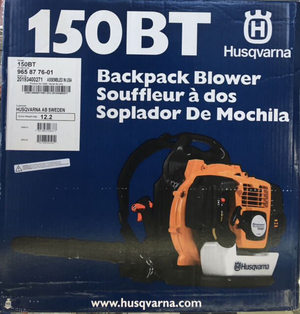 Husqvarna 150bt Commercial 50cc 2 Cycle Gas Backpack Blower For Sale Online Ebay