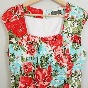 JACQUI-E-Womens-Floral-Print-Dress-Size-AU-10-or-US-6
