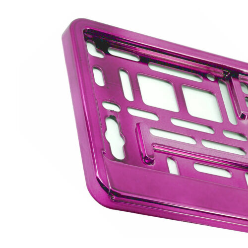 2 X Rosa Naranja número de placa rodea titulares Reino Unido presiona placas compatible M
