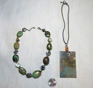 2-Green-Jasper-Statement-Necklaces-Hippie-Necklaces