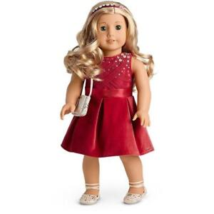 New-American-Girl-Red-Tis-the-Season-Party-Dress-Sparkly-Outfit-Tenney-Isabelle