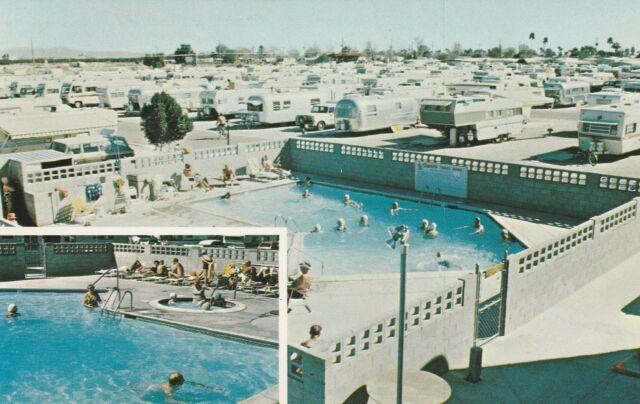 *(N) Yuma, AZ - Siesta Travel Trailer Park - Two Swimming Pool Views
