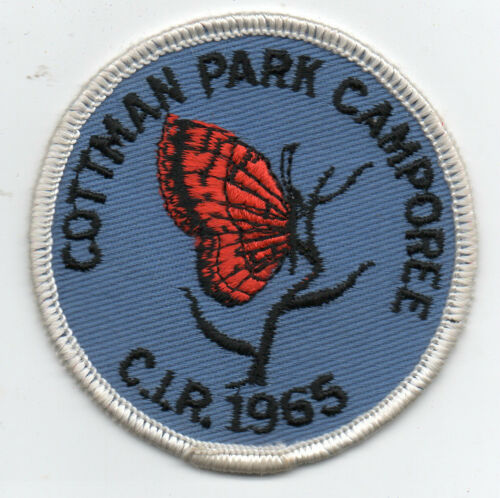 1965 Boy Scout Patch Cottman Park Camporee Butterfly