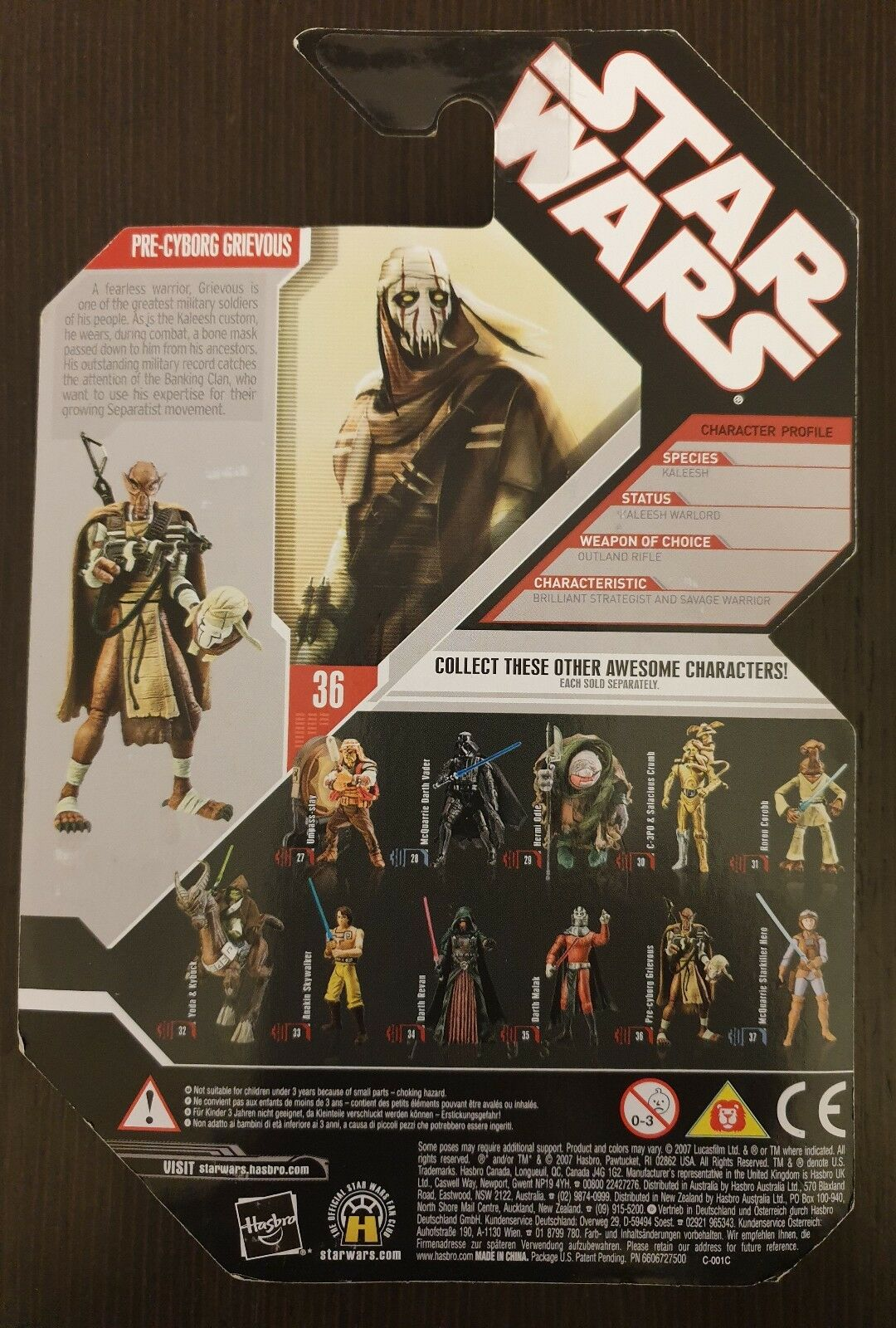 STAR WARS WARS WARS 30th,  n36 PRE CYBORG GRIEVOUS, EXPANDED UNIVERSE 52267f