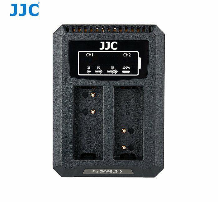 JJC DCH-BLG10 USB Dual Battery Charger for Panasonic DMW-BLG10/BLE9,Leica BPDC15