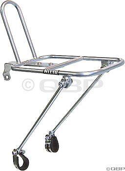 Nueva Bicicleta Portador delantero Rack NITTO M18 Plata para 26  27  Ruedas (Frontal M18)