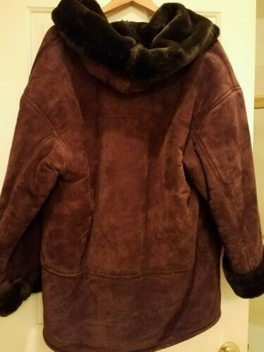 Gallery Parka Women's Large Brown Leather Size Suede OrdZpdyq