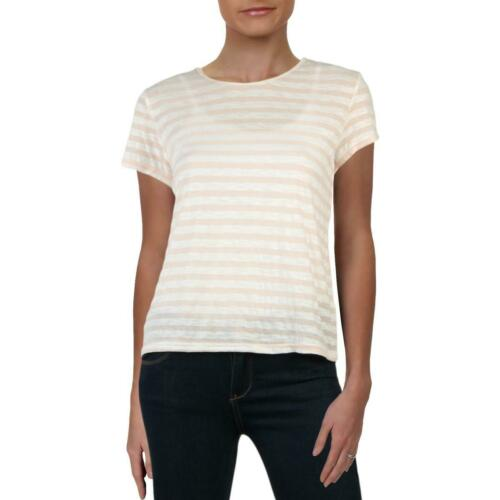 Michelle by Comune Womens Sharon Striped Pullover Short T-Shirt Top BHFO 3567