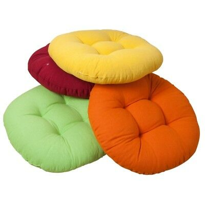1pc Chair Seat Cushion Round Pad Futon Tatami Pillow Home Sofa Back