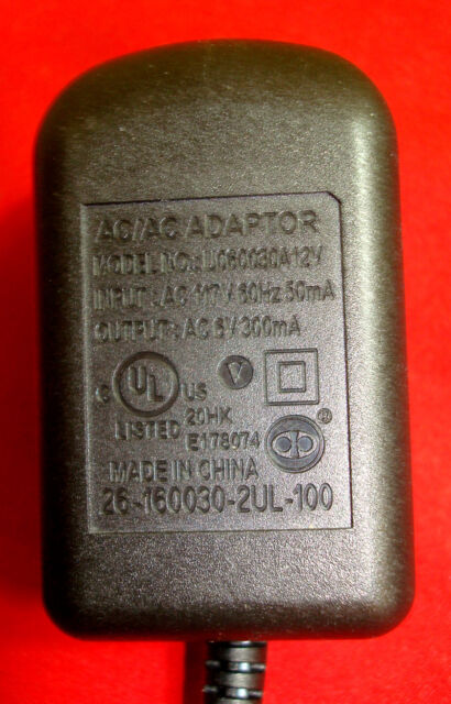 Genuine OEM AT/&T Vtech Phone Base Charger AC Adapter U060030A12V Small Tip