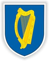 Coat of Arms Sticker of Ireland Irish Crest for Scooter Motorcycle Bumper Door