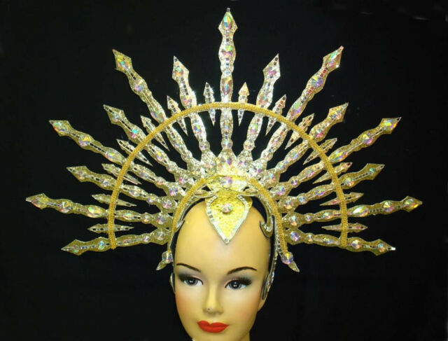 Crescent Half Circle Arrow Warrior  Headdress Costume Carbaret Showgirl