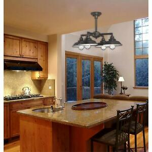 Details About Country Kitchen 4 Light Chandelier Dining Room Ceiling Fixture Farmhouse Metal