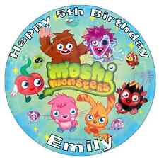 """Moshi Monster Personalised 7.5"""" Cake Topper Edible Wafer Paper Birthdays"""