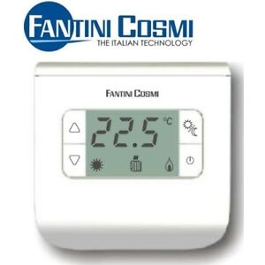 Ch110 termostato bianco ambiente digitale a batterie da for Fantini cosmi ch110