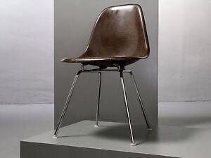 1 x eames side chair fiberglas herman miller h base dsx vitra stuhl braun ebay. Black Bedroom Furniture Sets. Home Design Ideas