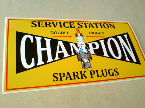 CHAMPION SERVICE STATION Classic Vintage Retro Sticker Decal 305mm 12 inch 1 off