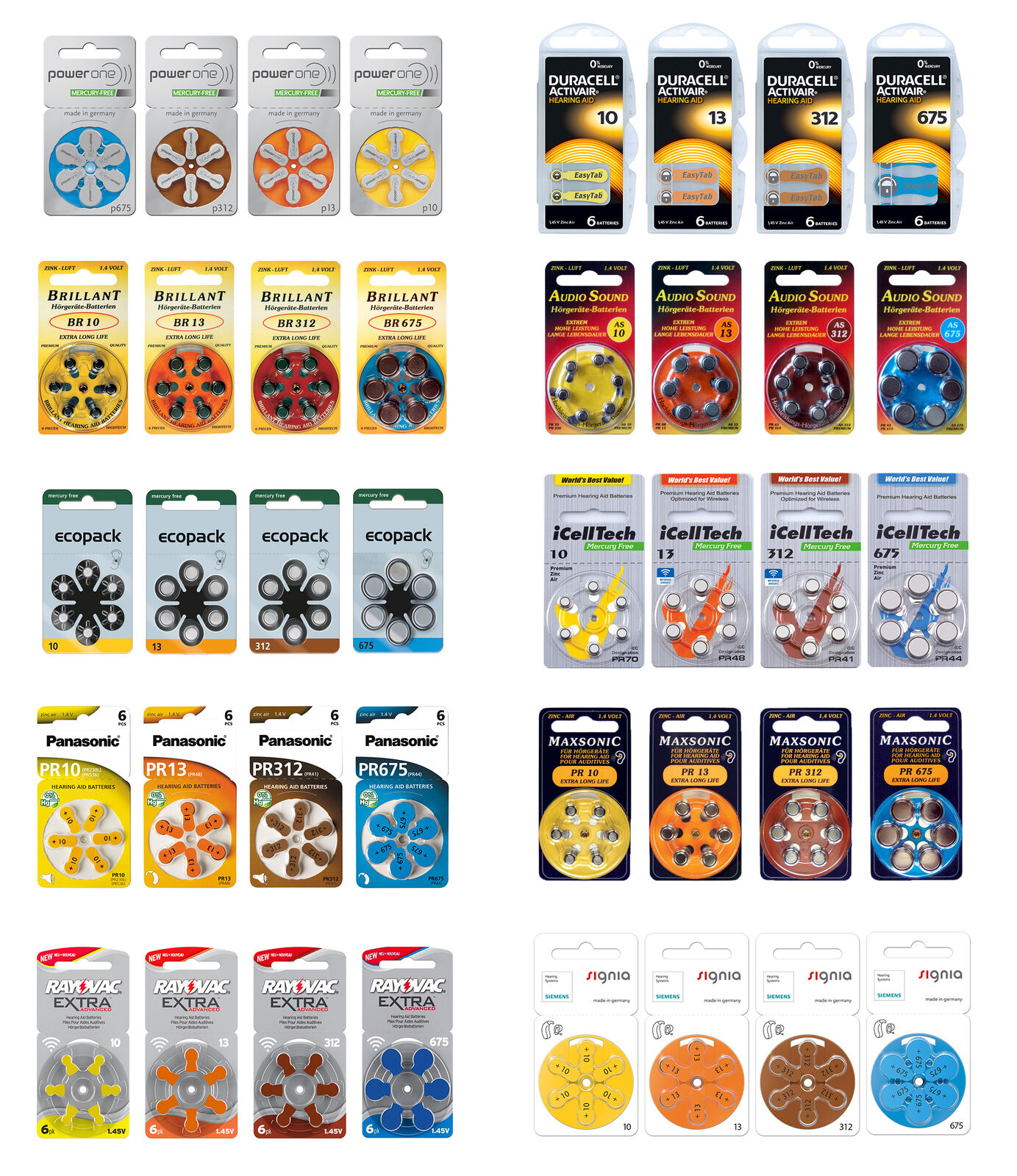 Hörgerätebatterien Typ 10 - 13 - 312 - 675  Duracell, Siemens, Panasonic, | Spielzeugwelt, fröhlicher Ozean