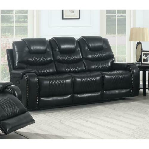 Park Avenue Black Power Reclining Sofa