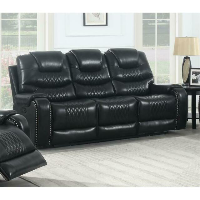 Outstanding Park Avenue Black Power Reclining Sofa Gmtry Best Dining Table And Chair Ideas Images Gmtryco