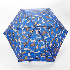 61bda63e5b6c Details about Eco-Chic Foldable Compact Manual Mini Umbrella Durable  Country Horses Blue