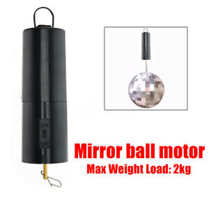 new mirror ball motor spin battery operated rotating turning disco party wedding ebay. Black Bedroom Furniture Sets. Home Design Ideas