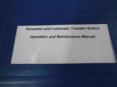 CAT Olympian GENERATOR Autmatic Y Type TRANSFER SWITCH Operation Manual 1994 EBay