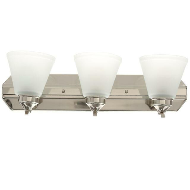 Etonnant Hampton Bay Bathroom Bar Brushed Nickel Finish Light Fixture 261 370