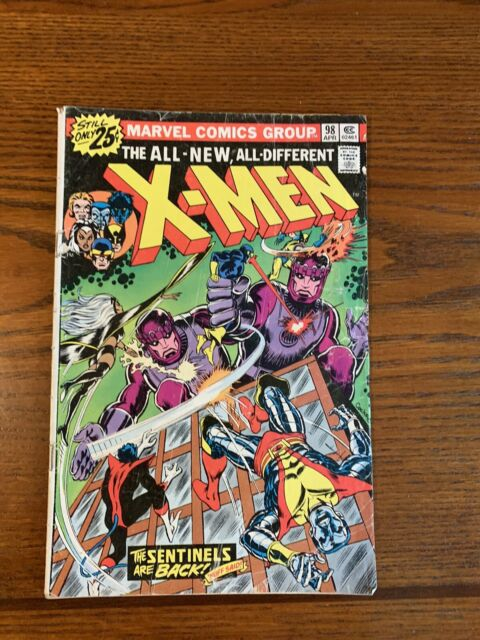 The X-Men #98 (Apr 1976 ) SENTINELS / KIRBY AND STAN LEE CAMEOS ***