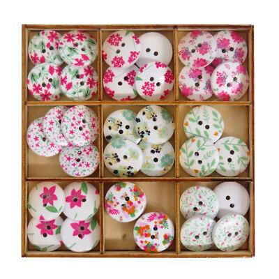 Sorted into Colour Themes 25 Assorted Buttons Size 15mm