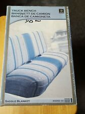 New Listingsaddleman Seat Cover Bench Full Size C10 F150 D100 Dark Blue Saddle Blanket