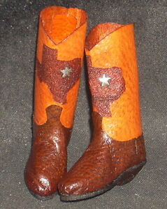 Boots-Dollhouse-Miniature-Prestige-Custom-Western-Texas-Outline-1-12-Silver-Star