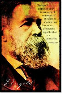 Friedrich Engels Art Photo Print Poster Cadeau Marxisme Cite-afficher Le Titre D'origine Nous Prenons Les Clients Comme Nos Dieux