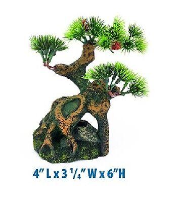 """Penn Plax Bonsai Tree Small Fish Aquarium Ornament 6"""" RR994"""