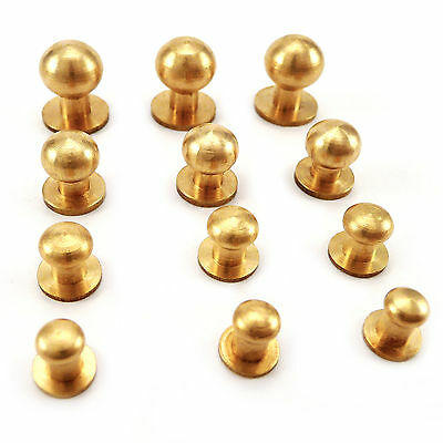 Sam brown browne screw studs - solid Brass 5.5 mm 6.5 mm 8 mm 10 mm