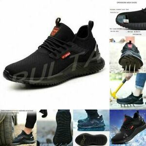 UK Mens Womens Safety Shoes Trainers Steel Toe Cap Work Boots Sports Sneaker P1