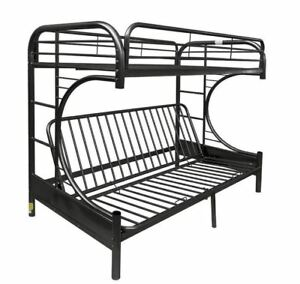 Futon Bunk Bed 7548 Twin Over Full Metal Kids Bedroom Couch Dorm Ladder Guard Rails 6338009897548 840412968945