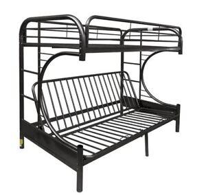 Buy Futon Bunk Bed 7548 Futon Bunk Bed Twin Over Full Metal Kids