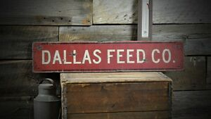 Custom Feed Company Farm Sign Rustic Hand Made Vintage Wooden