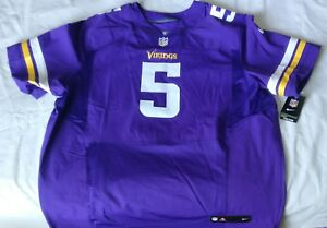best website ac101 f5203 Details about Nike Minnesota Vikings Teddy Bridgewater Football Elite  Jersey Sz 60 599965 551