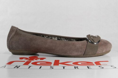 Femmes Rieker Pour Véritable Chaussures Marron Basses Cuir