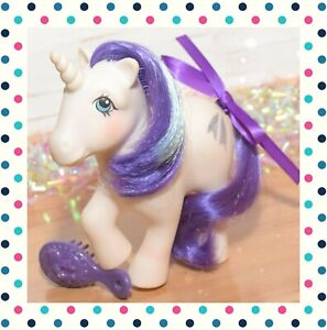 ❤️My Little Pony MLP G1 Vtg 1983 Glory White Purple Unicorn Shooting Star❤️