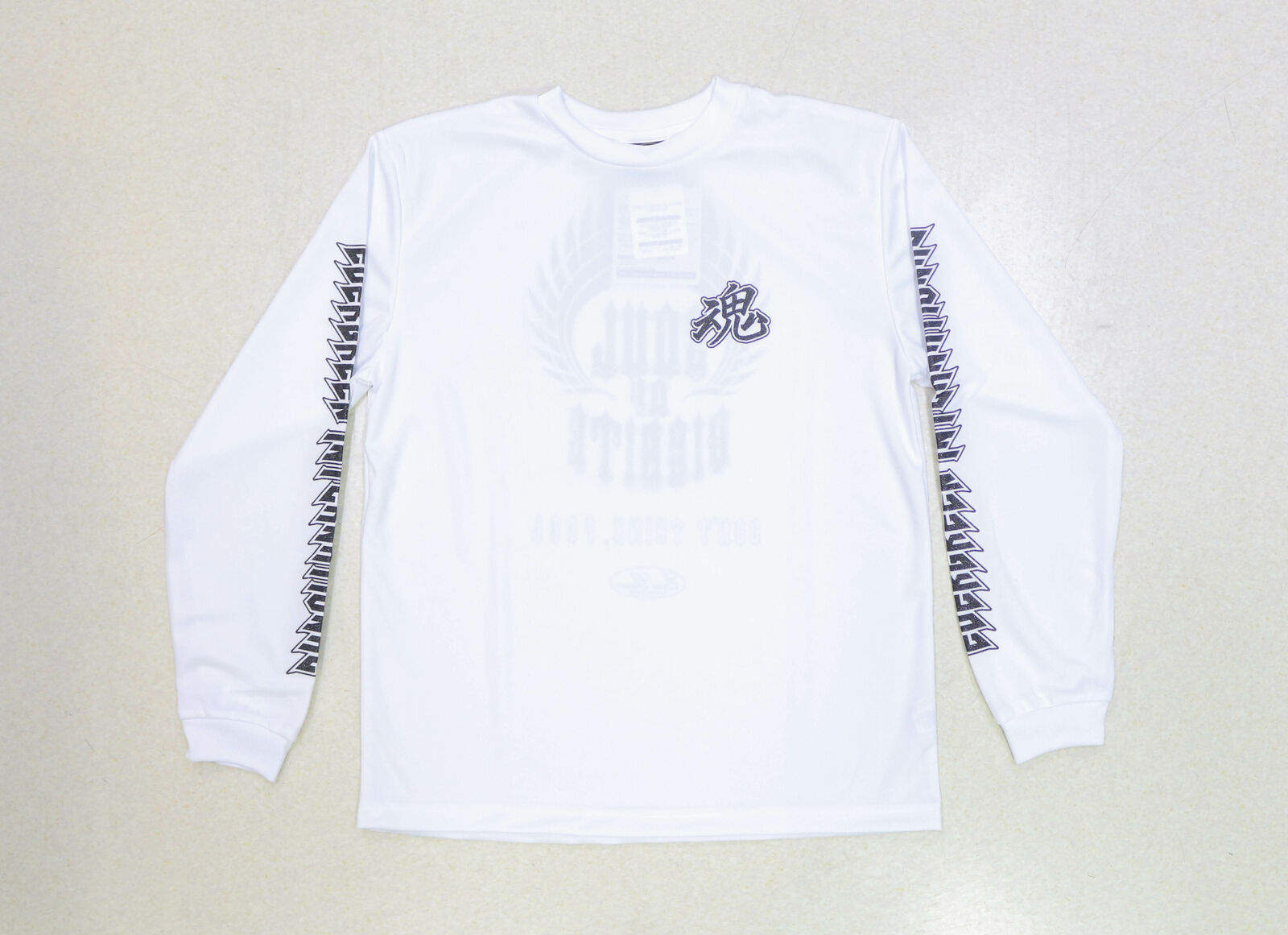 Evergreen T-Shirt Dry Fit Long  Sleeve Metal Soul A Type Size M White (7526)  good reputation