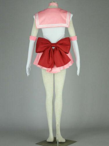 Details about  /ailor Moon Sailor Chibi Usa Pink Uniform Dress Cosplay Costume Custom Made #NN5