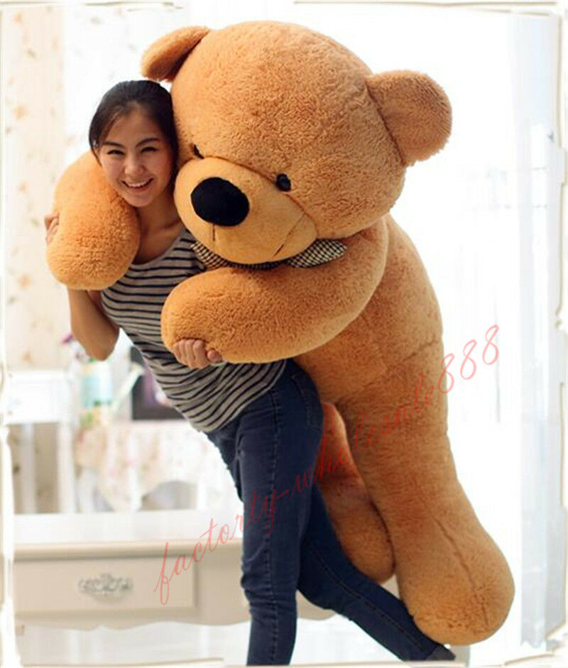 "63'' Giant Huge Big Stuffed ""light Marrone Teddy Bear Plush Soft Toys Doll 160cm"