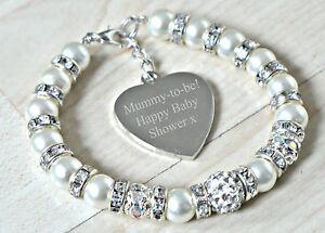 Details Zu Personalisiert Mummy To Be Neu Mutter Mutter Babyparty Geschenk Graviert Armband