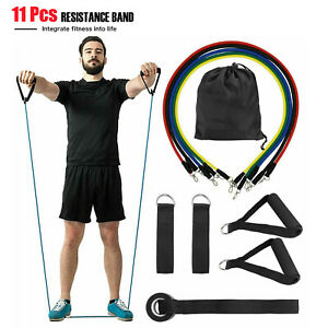 Resistance Bands,11PCS kit,Yoga Pilates Abs Exercise Fitness Workout Bands,USA
