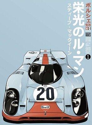 Le Mans Gulf Porsche Team 917K AP Kako Print Artist Proof Limited Steve McQueen