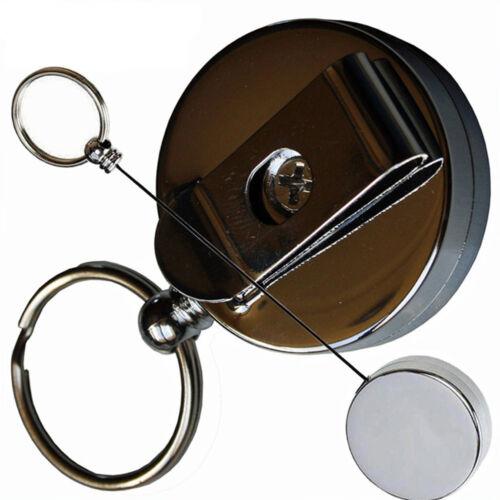Haller Schlüsselhalter Schlüsselanhänger mit Nylonband Metallgehäuse mit Clip